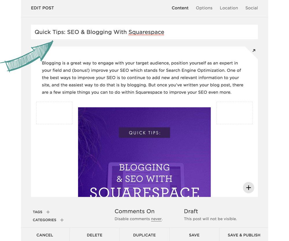 Quick Tips for Blogging & SEO With Squarespace | Six Leaf Design | Freelance Graphic Designer in Denver, Colorado