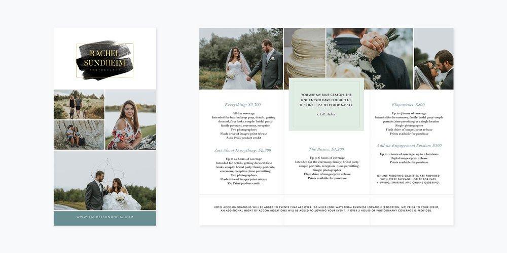 Rachel Sundheim Photography Logo + Brand + Brochure Design