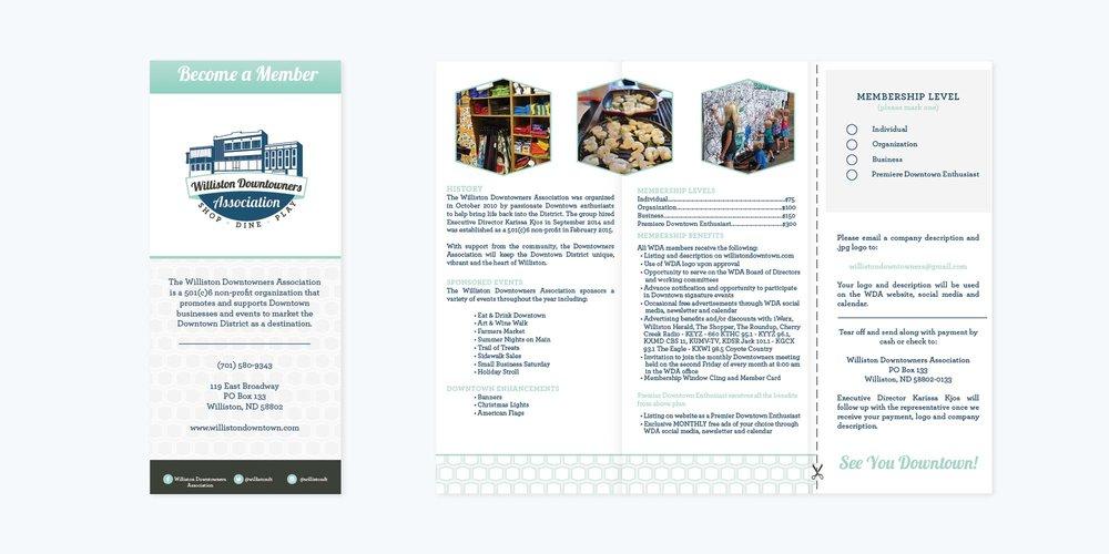 Downtown Williston Logo + Brand Design | Brochure Design