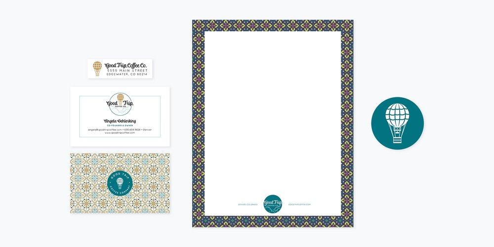 Good Trip Coffee Co. Logo + Branding Design | Business Cards, Letterhead & Social Media Designs