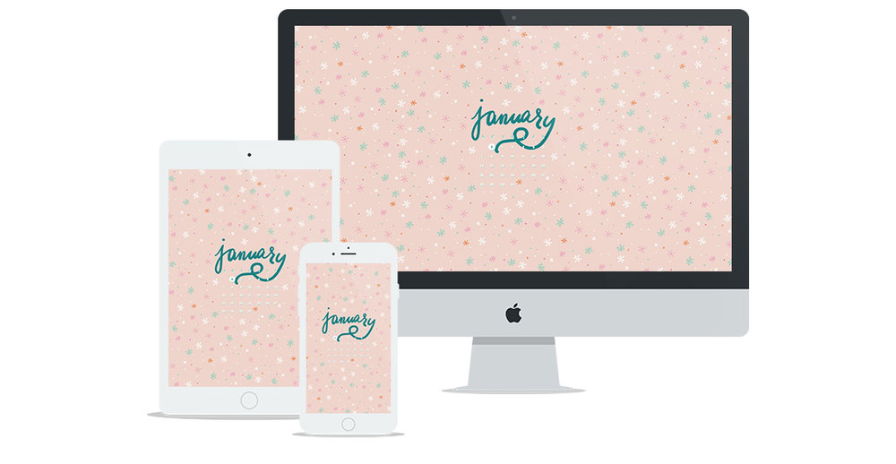 Free Wallpaper for January 2018 | Six Leaf Design | Freelance Graphic + Logo + Web Designer | Denver, Colorado