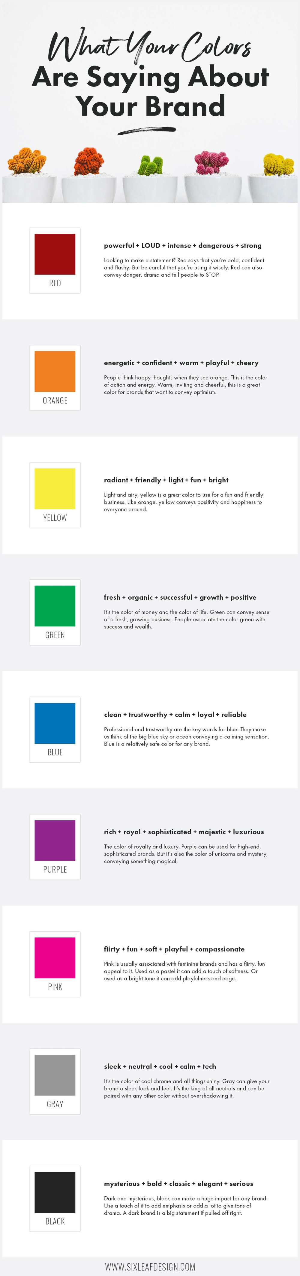 What Your Colors Are Saying About Your Brand Infographic | Choosing The Right Colors For Your Brand Infographic