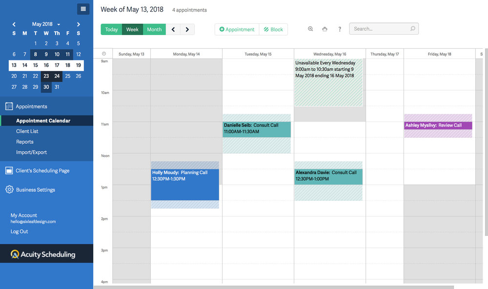 Acuity Scheduling |3 More Tools I Use Everyday To Run My Business Smoothly
