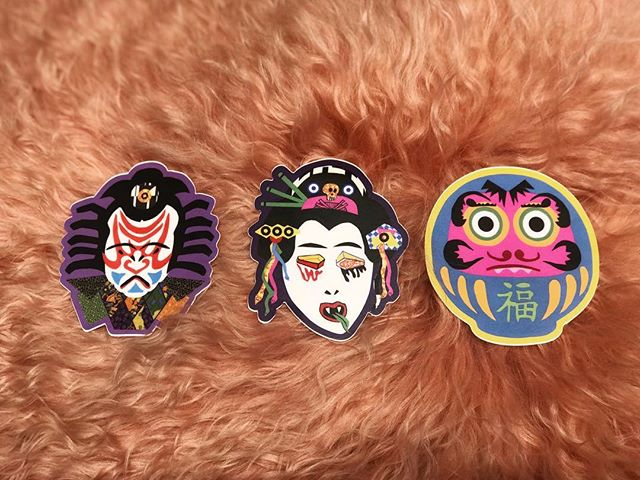 Meet the new members of our sticker family: Konfused Kabuki, Ms. Geisha no talk to me, and the Daruma doll that spent too much time in the sun. • Stickers by local artist @franciscaoyhanarte • #franciscahothanarte #miami #artisan #discoball #travel #wellness #miamiarts #local #supportlocal #instagood #disco #beautiful #artisanal #wynwood #supportlocalfl #florida #tropical #livemusic #instadaily #stickers #tourism #aroundtheworld #miamievents #nature #sticker #destination #wanderlust #lifestyle #miamibeach