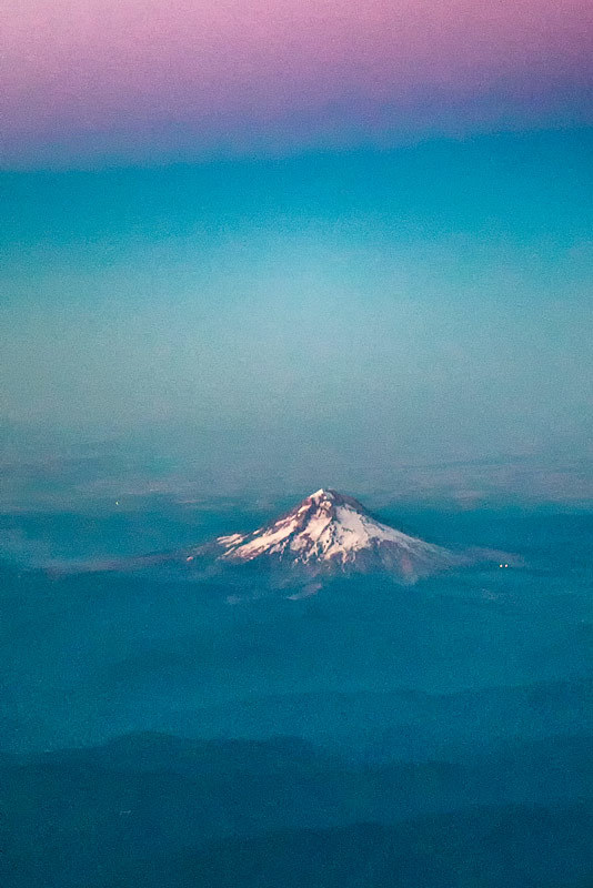 Mt Hood, Oregon from the air