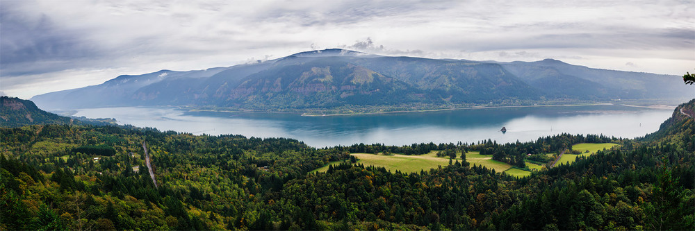 Panoramic of the Columbia River Gorge from Cape Horn, Washington