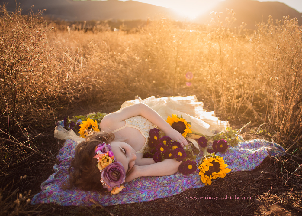 Flowers maternity and mountains whimsy love photography girl with flowers in front of colorado springs mountains mightylinksfo