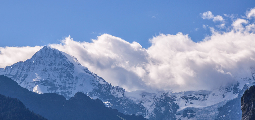 View of the Alps around Wilderswil  ©Copyright 2015Bridget Barnes