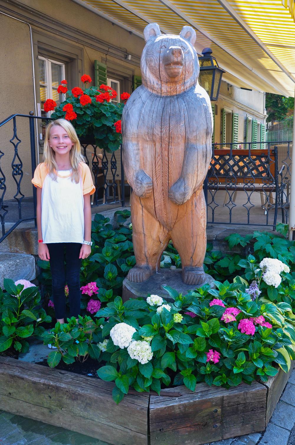 The Girl in front of Hotel Baeren  ©Copyright 2015Bridget Barnes