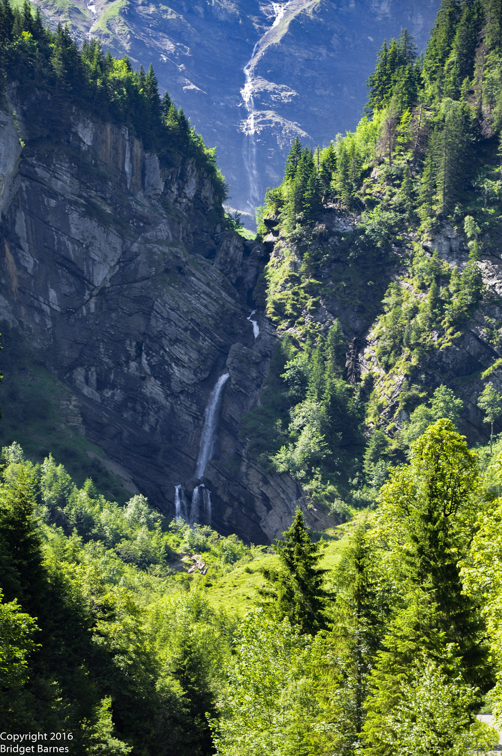 Waterfalls in Saxeten