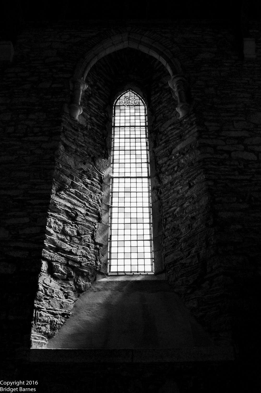 Window inside the Cathedral Church of St. Brigid