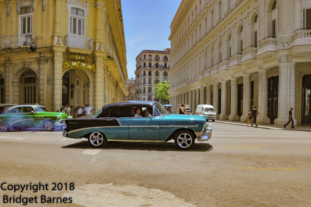 A couple of Havana's vintage cars, 18 June 2018