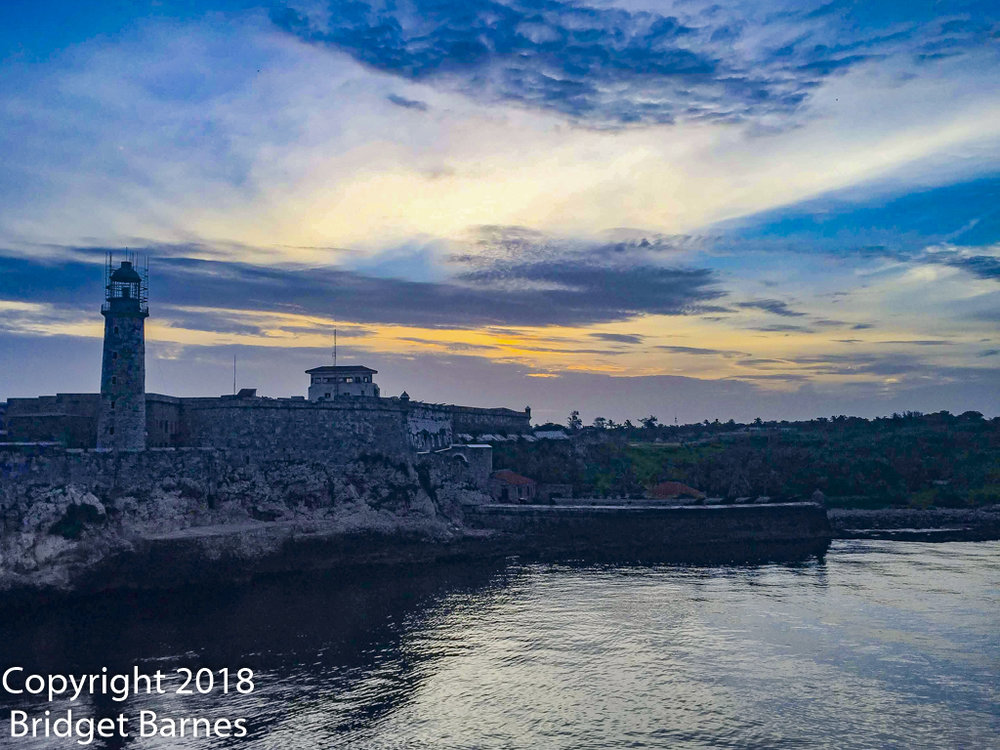 Pulling into the Port of Havana at sunrise, 18 June 2018