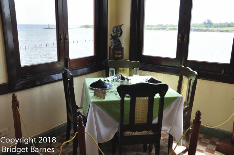 Hemingway's table at La Terraza