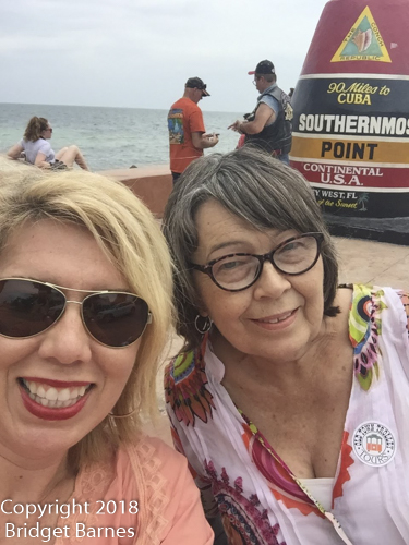 At the southernmost point with Mom, 17 June 2018
