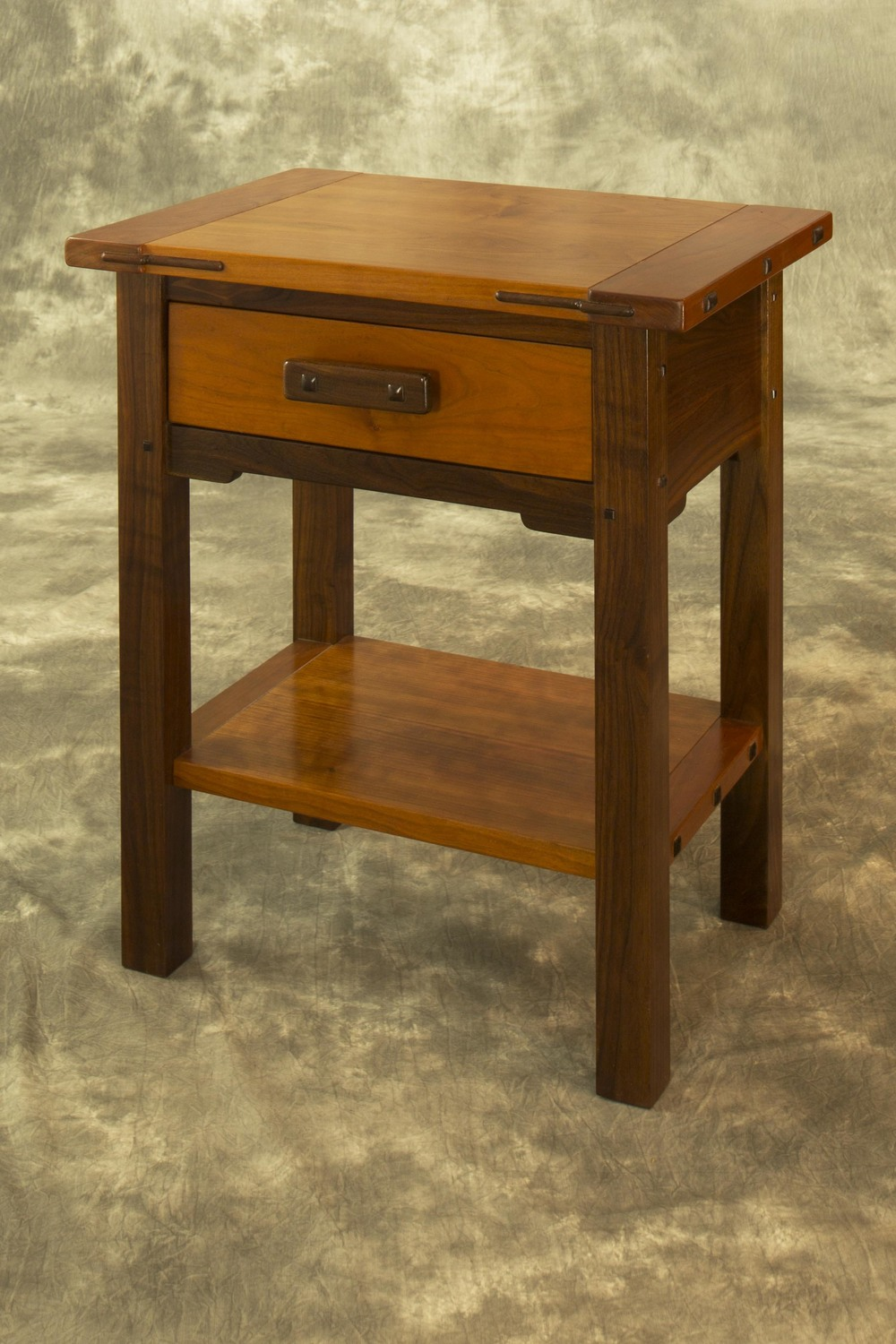 JD Lohr Walnut & Cherry Accessory Table