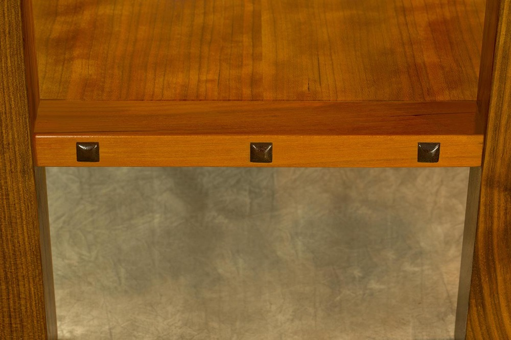 Floating Cherry Shelf & Walnut Buttons