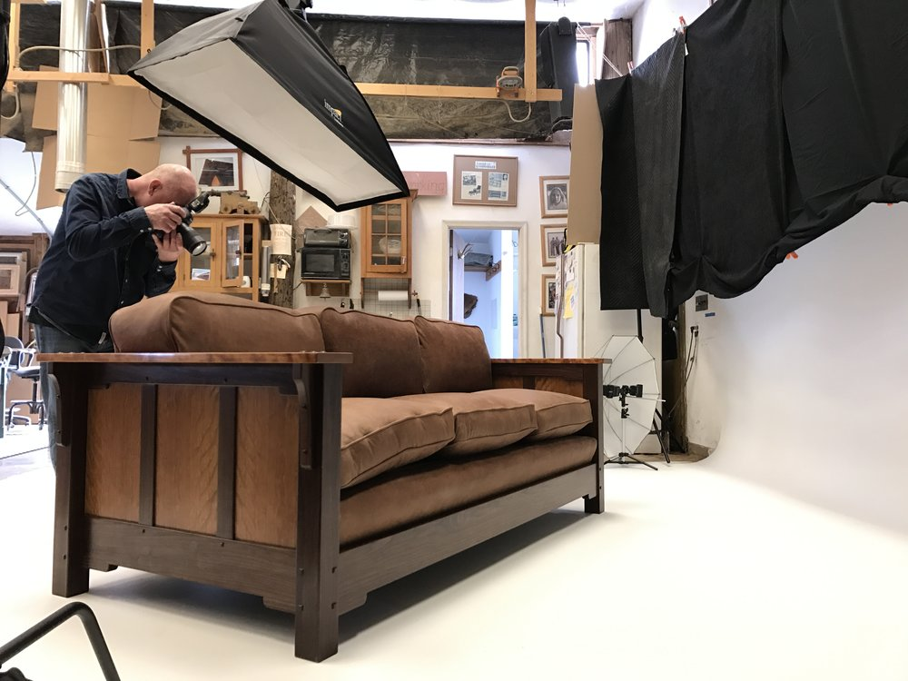 After the set up (which you can see, is quite extensive), Eoin worked his magic. It was just another day within the walls of the Lohr Woodworking Studio.