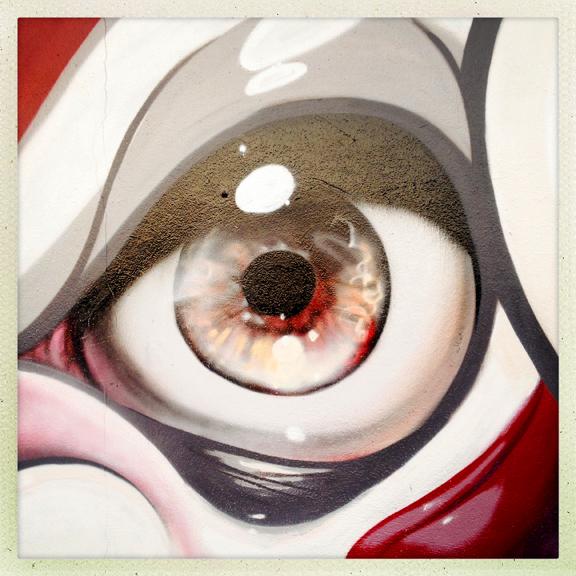 Craola's painted eye in Wynwood.