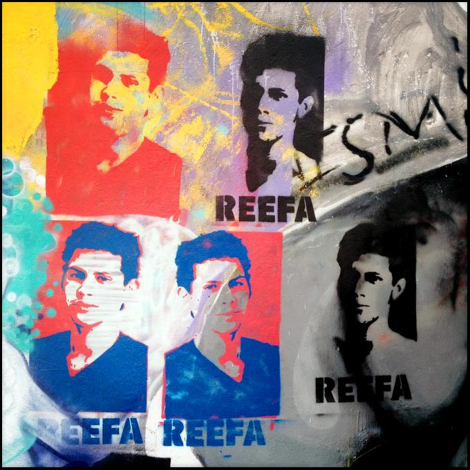 REEFA stencil.