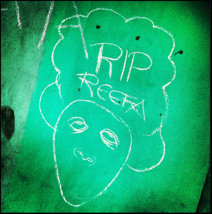 REEFA on an alley near the scene of the tragedy.