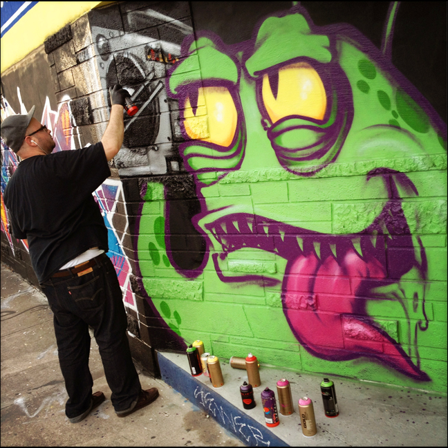 SERUM gettin' down in Wynwood during Art Basel 2012.