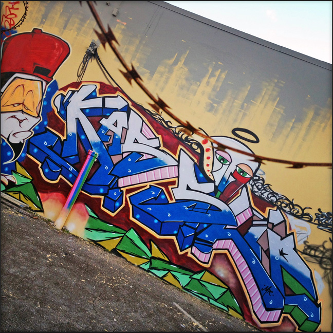 SLIP and KAS getting up during Art Basel 2012 in Wynwood