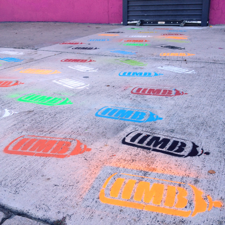 The sidewalk leading up to the gallery, 2219 NW 2nd Avenue. Wynwood, FL.