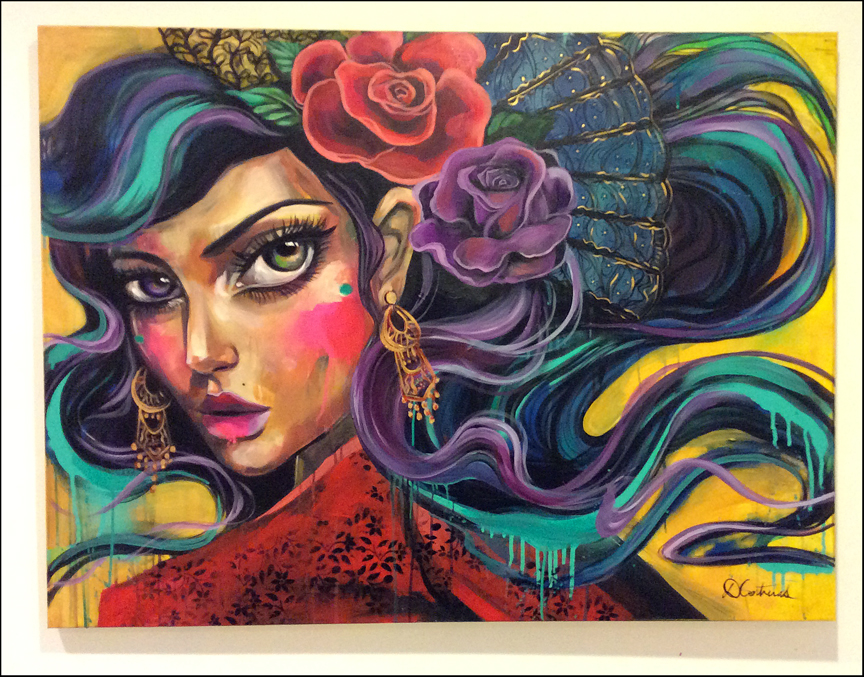 An original painting by Diana Contreras.
