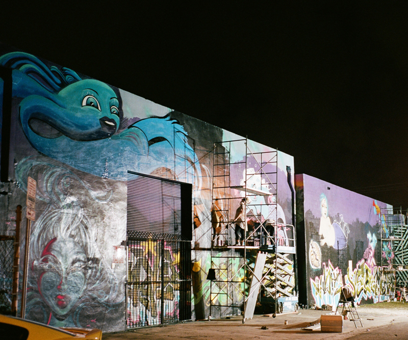 The FEW AND FAR group wall during Art Basel 2014.
