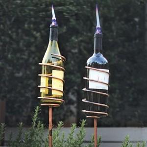 Afterglow Wine Bottle Garden Torch