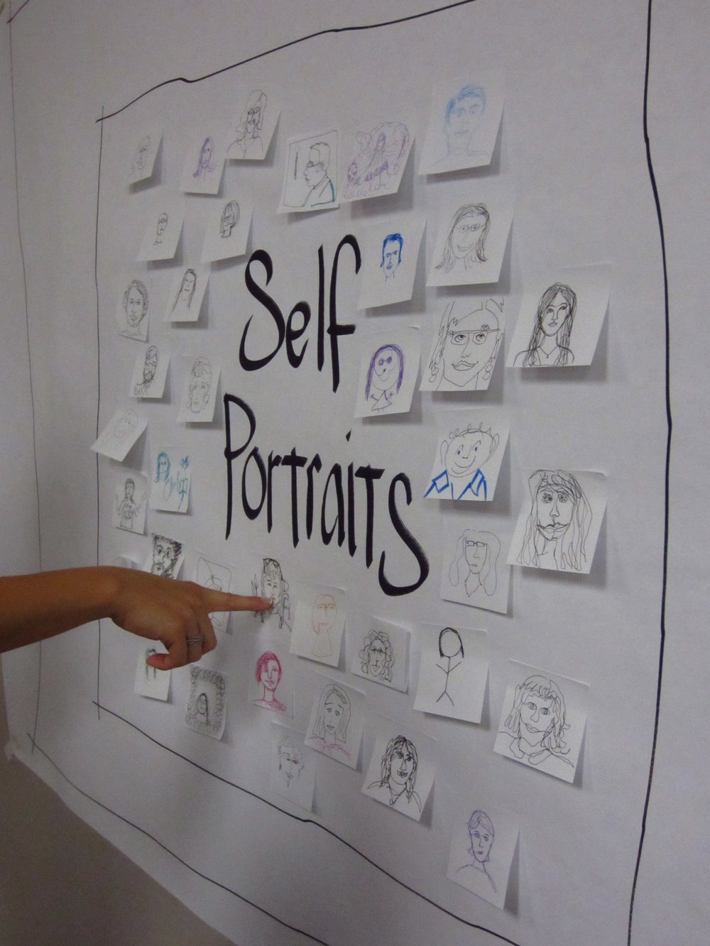 Self-portraits model withholding judgment, supportive feedback, individual perspectives,  and team diversity.
