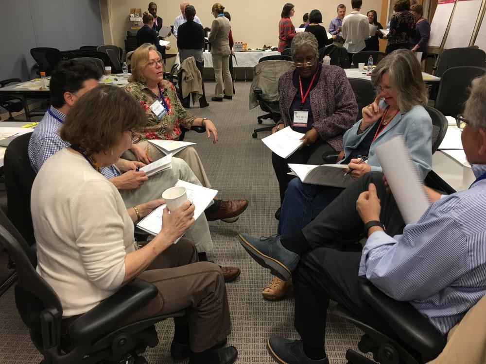 MAFN members practice storytelling.