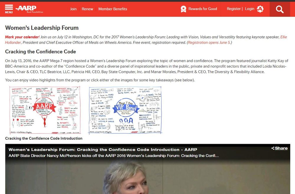 Lizard Brain graphic recordings featured on AARP's website