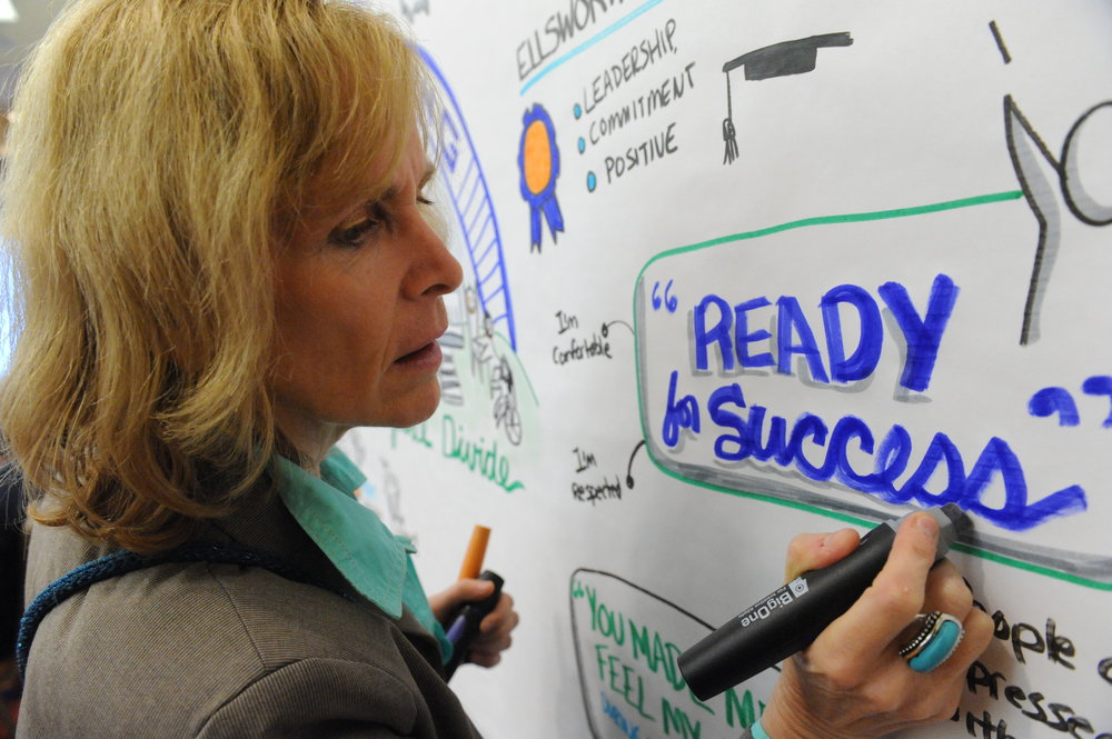 Caryn Ginsberg applies her background in strategy to visual thinking to help clients envision success.
