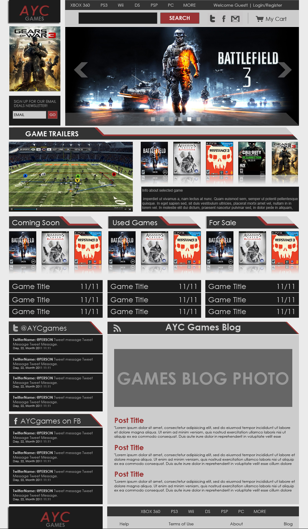 AYC GAMES LIGHT THEME