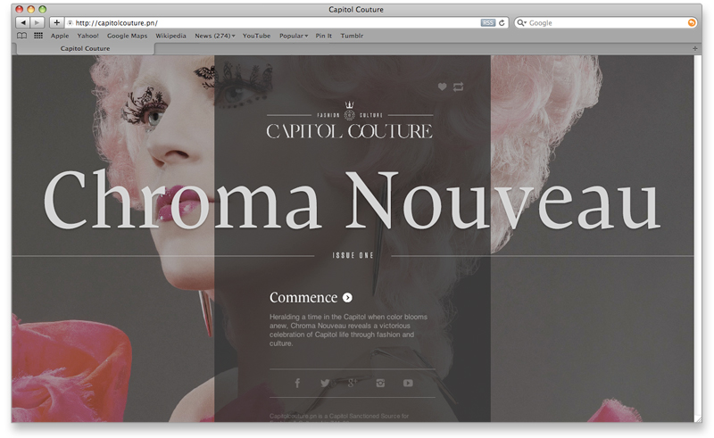 Capitol Couture landing page