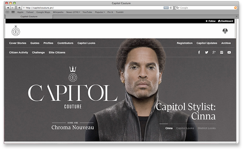 Capitol Couture homepage
