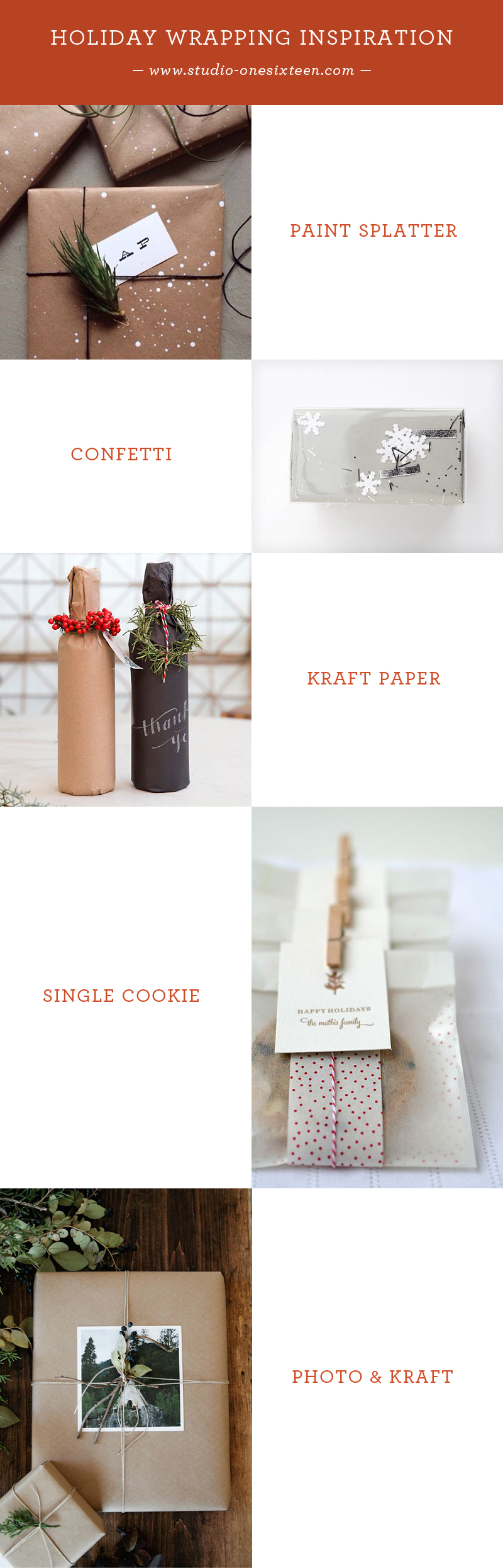 Paint Splatter Wrap / Confetti Wrap / Kraft Paper Wrap / Single Cookie Wrap / Photo & Kraft Paper Wrap