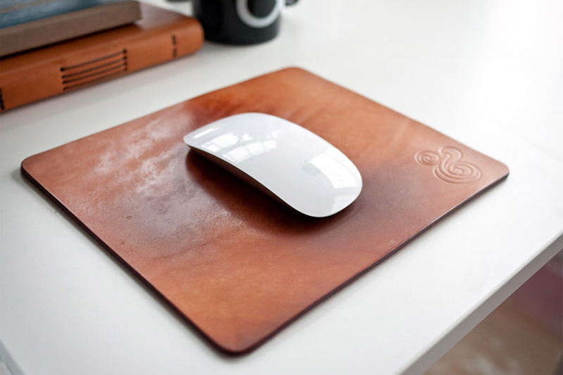 Natural Leather Mousepad by Ugmonk, $38