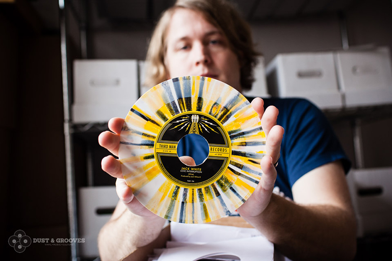 Ben Blackwell with a Jack White record — via   Dust & Grooves