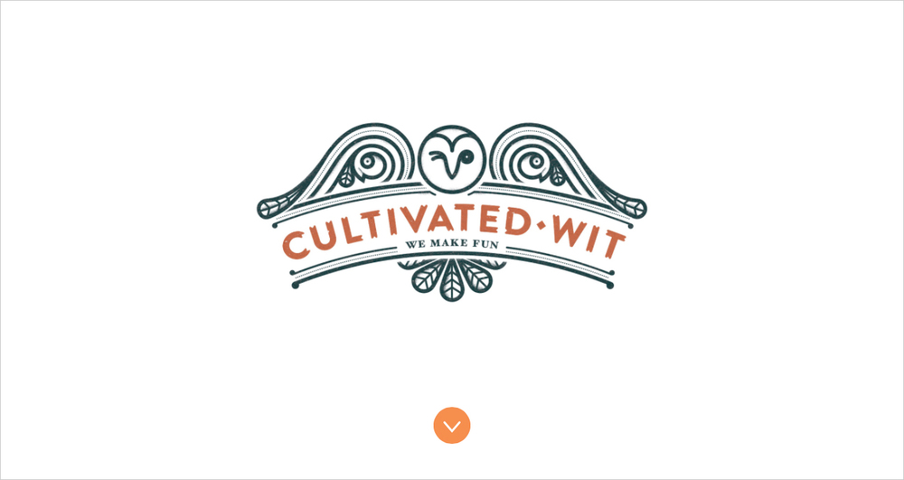 Cultivated Wit Homepage - Hover State