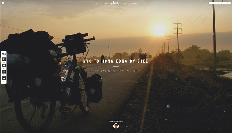 Adventure.com | Epics > NYC to Hong Kong by Bike