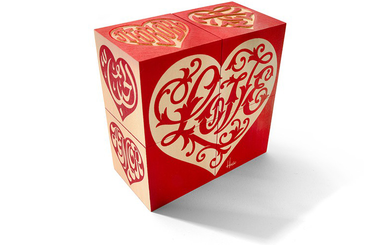 Red House Industries Love Heart Blocks ; $20