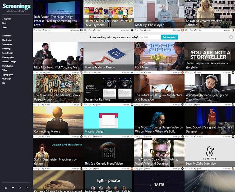 Screenings Homepage