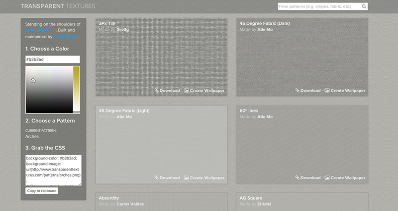 Transparent Textures Homepage