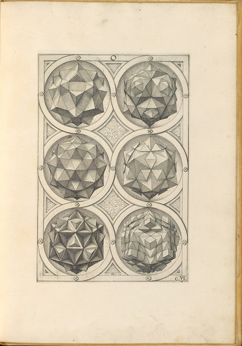 scan of a page from Perspectiva Corporum Regularium