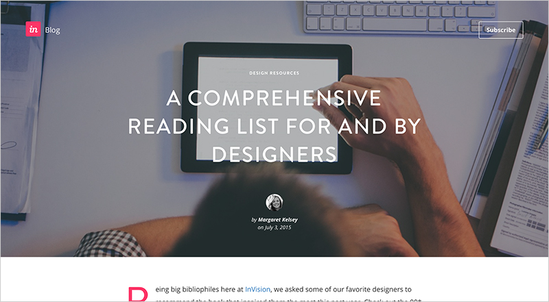 A Comprehensive Reading List For and By Designers   by  InVision