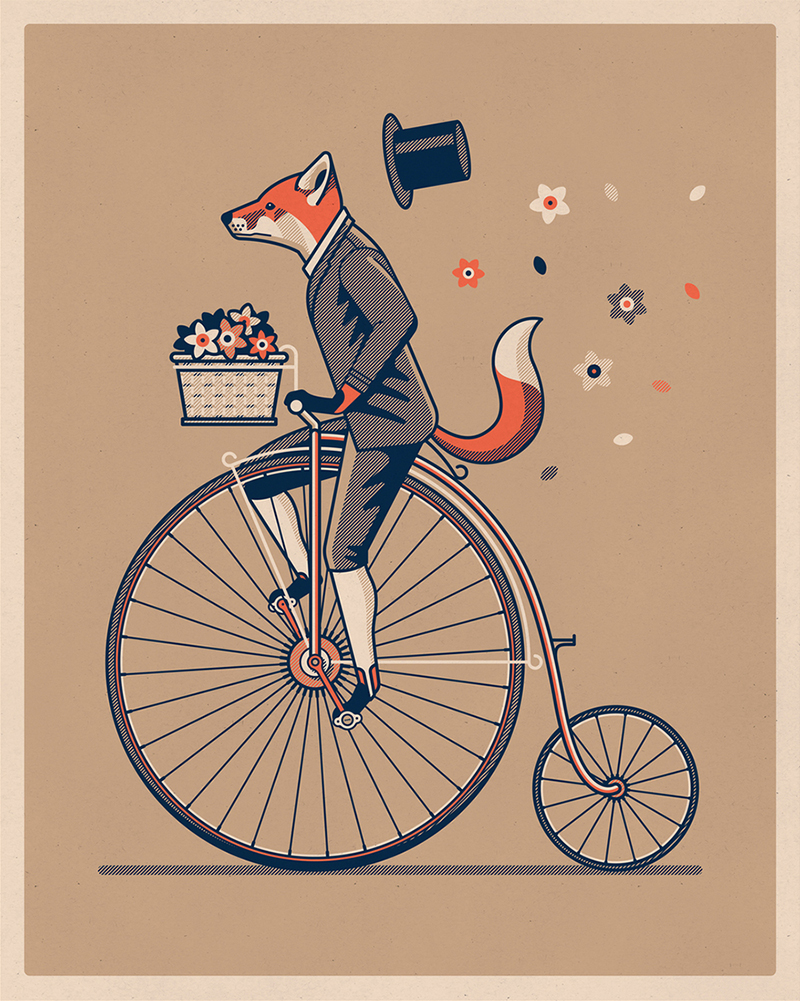 Penny Farthing  Art Print by DKNG Studios