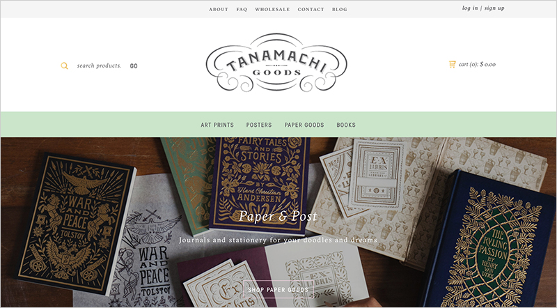 The Tanamachi Goods Homepage